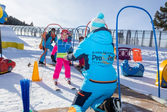 Children's lessons in the Zillertal Arena