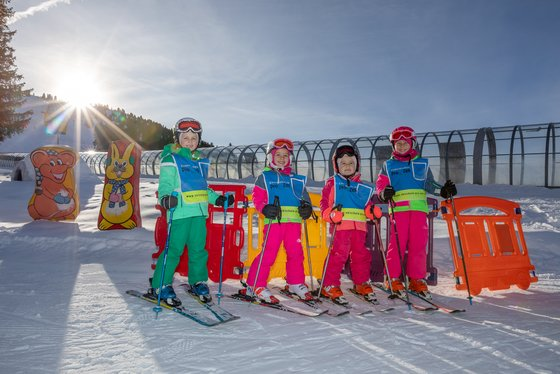 Ski lessons for children in the Zillertal Arena